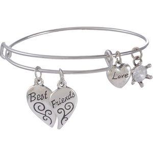 Jewelry - Set of 2 Best Friends Charm Friendship Bangles