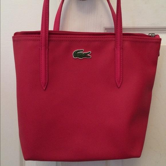 7a567ff6d57 Lacoste Handbags - Lacoste Hot Pink Tote Bag