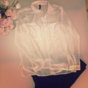 Sheer H&M blouse