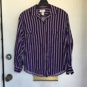 Other - Purple Stripe Classic Shirt. Men's Small.