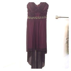 City Studio Dresses - City Studios Juniors', Embellished,High-Low Dress