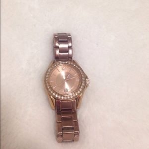 fossil jewelry riley mini plated watch in rose gold poshmark. Black Bedroom Furniture Sets. Home Design Ideas