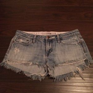 Joe's Distressed Cut Off Denim Shorts