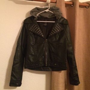 Infamous Black Leather Studded Jacket