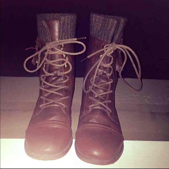 Shoes Sweater Cuff Combat Boots Poshmark