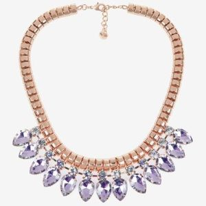 Ted baker purple crystal necklace