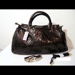 Handbags - New Faux Snake Print Handbag - Closeout Sale
