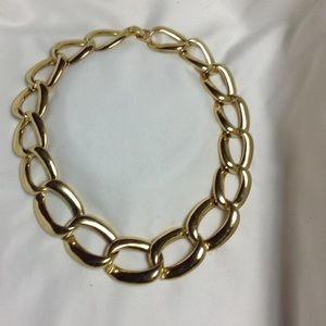 Banana republic infinity gold necklace choker new
