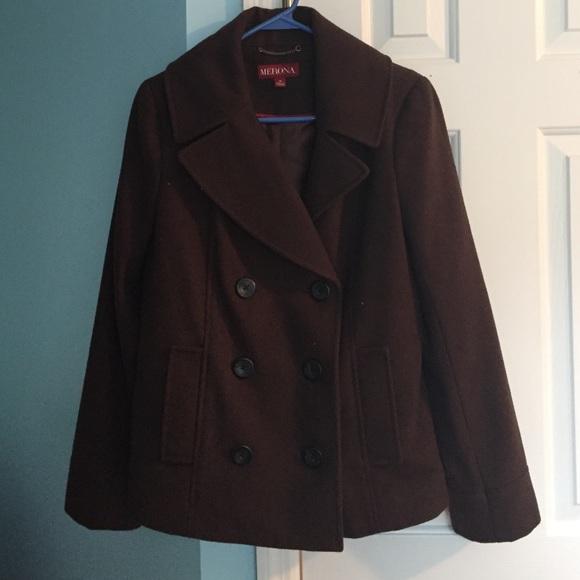 Merona Jackets & Blazers - Brown Pea Coat