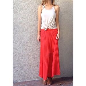 | new | pleated maxi skirt