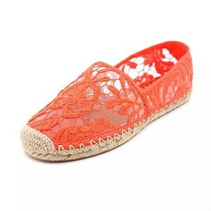Rebecca minkoff Orange lace espadrilles❤️