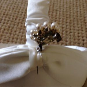 Bags - 1 left! Ivory satin flower girl basket. Beautiful