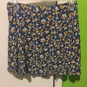 Blue Skirt with flowers