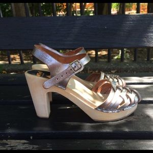 Silver Swedish Hasbeens Sky High Heels