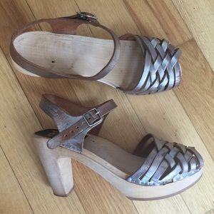 Swedish Hasbeens Shoes - Silver Swedish Hasbeens Sky High Heels