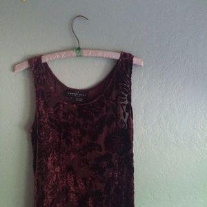 long vintage floral velvet dress