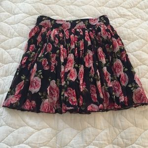 Forever 21 Small navy and pink floral skirt