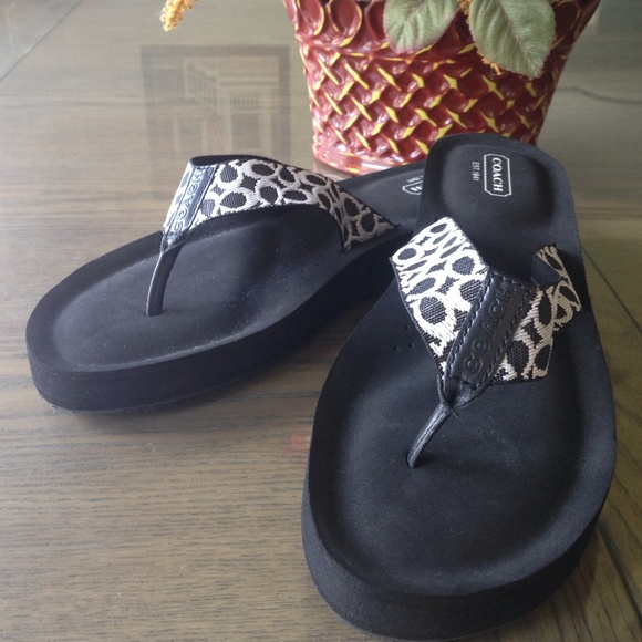 b85e426d2 Coach Shoes - Coach Jessalyn Flip Flops Sandals- Black