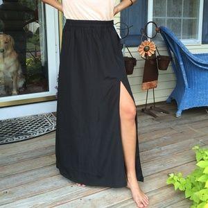 ⭐️SALE⭐️NWT Michael Kors long black maxi-skirt