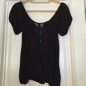 Free people - small. Black top