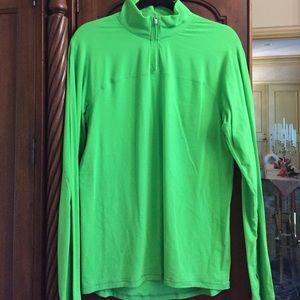 lululemon athletica Other - Mens lululemon long sleeve bright green pullover
