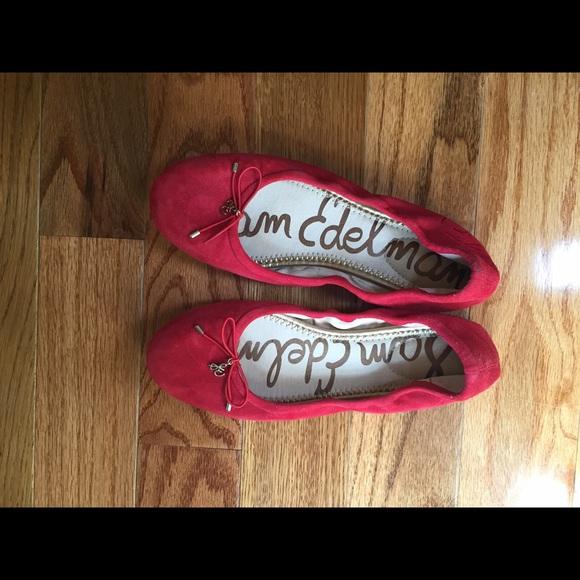 6aafdcdbf Sam Edelman Shoes - Sam Edelman Felicia Flats - Red
