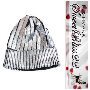 Now Available ! Silver Metallic Beanie