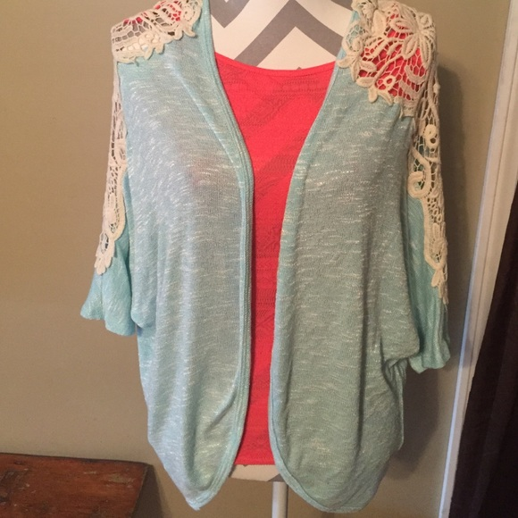 69% off Tops - Light blue and lace cardigan! from Lindsay's closet ...