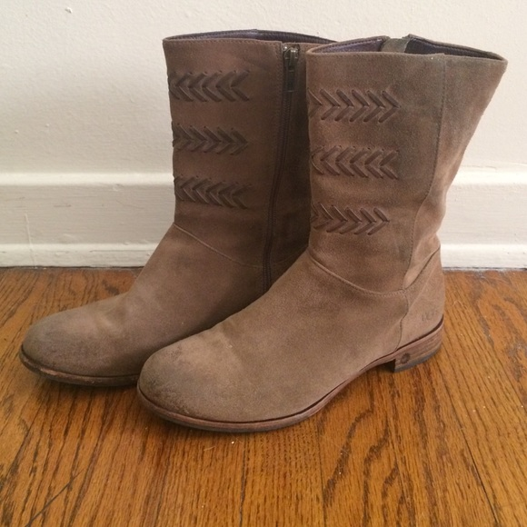 99f3bd3100f Leather, Fleece lined ugg boots
