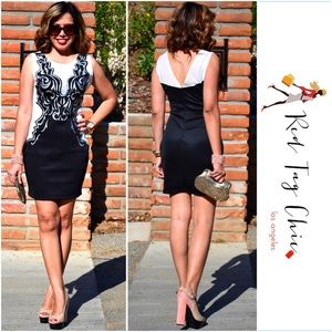 Dresses & Skirts - Gorgeous Black & White Party Dress