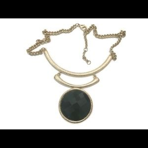 Trendy CHI Gold Black Link Circle Chain Necklace