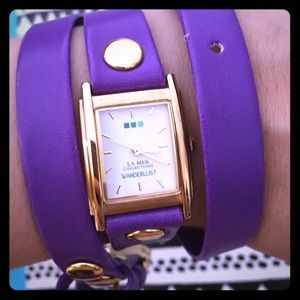 La Mer Collections Wanderlust purple watch