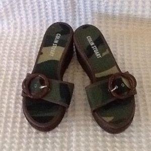 Colin Stuart Camo Adjustable Toe Sandals