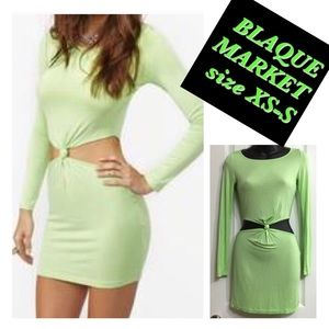 Dresses & Skirts - EUC MINT GREEN BLQ MKT BODYCON DRESS size XS-S