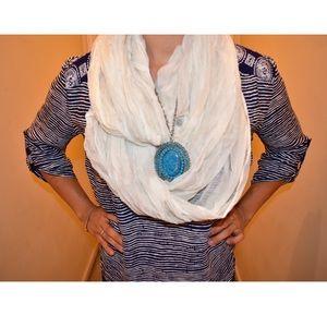 Merona White scarf