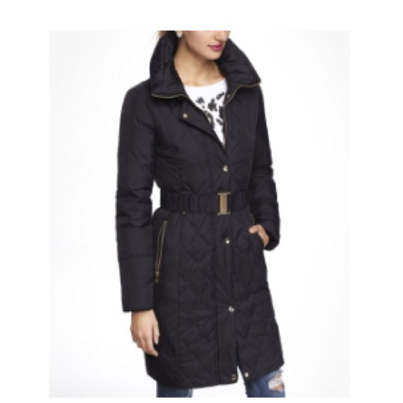 Express black puffer coat
