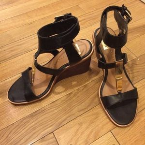 Dolce Vita black and gold wedges-size 6