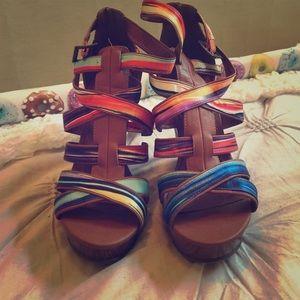 Michael Antonio Shoes - Michael Antonio Colorful Wedges