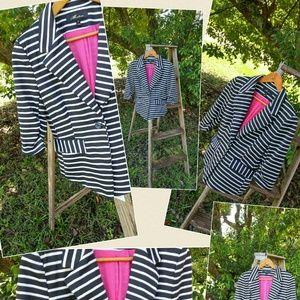 Jackets & Blazers - Striped jacket sz large