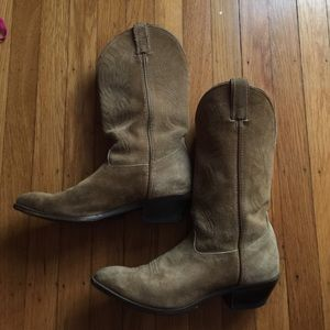 tan suede cowboy boots on Poshmark