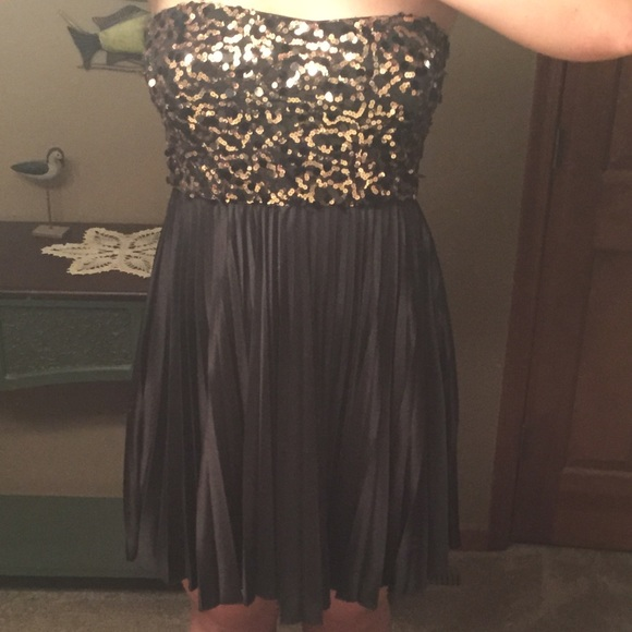 50% off As You Wish Dresses & Skirts - Black and gold sequin dress ...