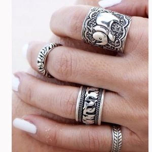 Urban Outfitters Jewelry - 💥SALE💥bFour Peice Bohemian Ring Set
