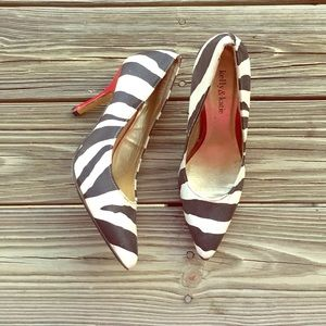 Kelly & Katie Shoes - ☀️SALE☀️ Zebra Heels 💕