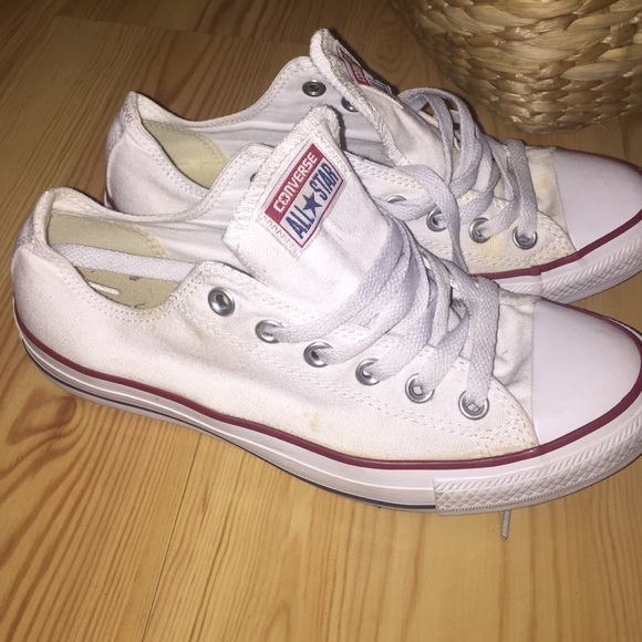 2076f0ef1daa Converse Shoes - White low top converse size 8 womens