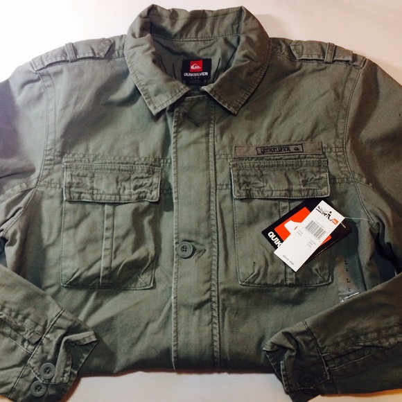 Sale! Quick Silver Olive Military Inspired Jacket ec4c9085d3a