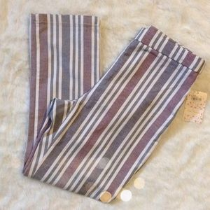 Free People Pants - Free People Hi Rise Yard Stripe Skinny Size 4