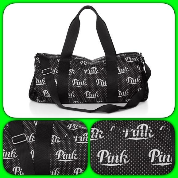 pink s secret pink vs logo duffle bag from yo s