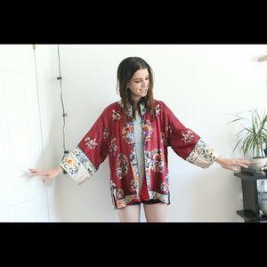 Outerwear - Vintage silk kimono