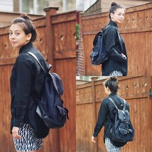 GAP Bags - Navy and Black canvas/leather (vegan) Backpack