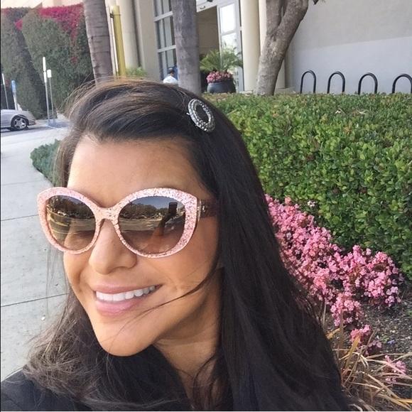 932dd65f7bee6 kate spade Accessories - Kate Spade Sherrie pink glitter sunglasses